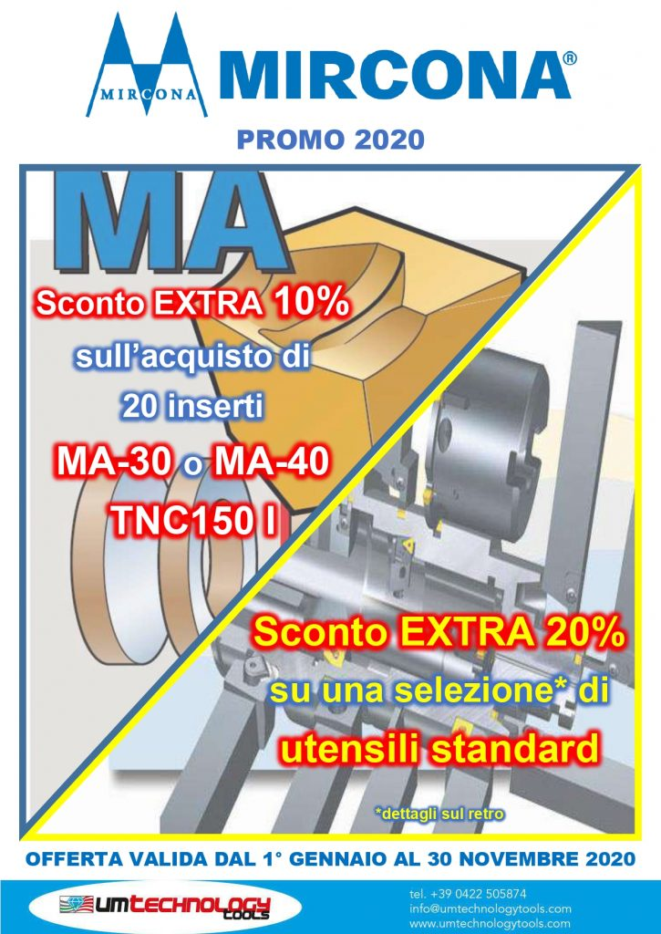 promo Mircona per UM TECHNOLOGY TOOLS